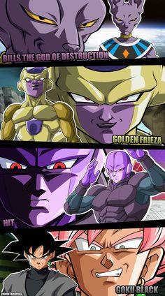 Dragon Ball Super Villians by JafethTheDraxx