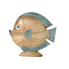 Large Wooden Fish