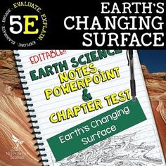 Earth's Changing Surface: Earth Science PowerPoint, Notes