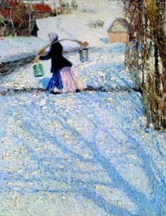 Snow in March - Igor Grabar 1904 |