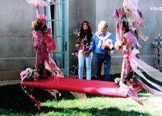 Lisa Vanderpump's rose swing... so sweet!