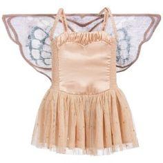 Stella McCartney Kids - Peachy Satin & Tulle 'Bonny' Dress with Wings | Childrensalon