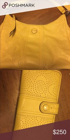 Authentic Coach purse AND matching wallet! Authentic Coach purse AND matching wallet! Gently used! Pet free smoke free home! Coach Bags Shoulder Bags