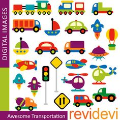 Transportation clip art - Awesome Transportation - land, water, air transportation - Digital Images - commercial use clipart Clipart, Scrapbook Bebe, Transportation Birthday, Transportation Activities, Choo Choo Train, Baby Kind, Craft Materials, Digital Invitations, Embroidery Patterns