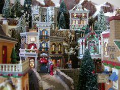 Christmas in the City Christmas In The City, Christmas Town, Christmas Scenes, Christmas Minis, Beautiful Christmas, Christmas Lights, Christmas Holidays, Christmas Carol, Christmas Village Houses