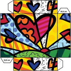 The Official web site for Pop Artist Romero Britto, view the latest events and artwork commissions of paintings and sculpture reflecting a modern pop art theme combined with the influences of early modern masters… Pop Art, Arte Elemental, Art Du Monde, Deep Space Sparkle, Canson, Paint By Number Kits, Ecole Art, Art Abstrait, Art Classroom