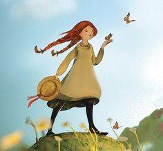 """Elly MacKay, cover art for """"Anne of Green Gables"""". ^_^  Such an adorable little Anne."""