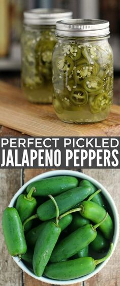 Perfect Pickled Jalapeño Peppers with this easy canning recipe. These are super hot and spicy with a bit of zip!Make Perfect Pickled Jalapeño Peppers with this easy canning recipe. These are super hot and spicy with a bit of zip! Pickled Jalapeno Recipe, Pickled Jalapeno Peppers, Canned Jalapenos, Pickling Jalapenos, Stuffed Jalapeno Peppers, Jalapeno Canning, Pickeled Jalapenos, Pickling Peppers, Easy Pickled Peppers Recipe