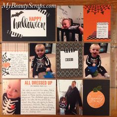 BeautyScraps: Halloween Project Life Page using Project Life by Stampin' Up! Seasonal Snapshot 2015