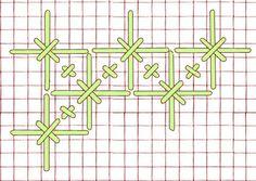 Punts decoratius...  --Tweed stitch