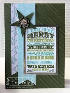 Stampin Up O Holy Night. Bundles available to make these and 3 other cards: http://clairedaly.typepad.com/sisterhood_of_the_travell/2013-christmas-card-bundles-and-kits.html