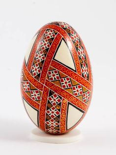 Easter eggs in batik technique batik red                                                                                                                                                     More