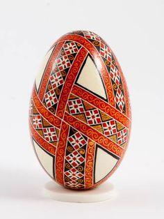 Easter eggs in batik technique batik red More