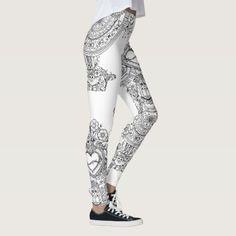 73ea6b9cd1d76a Doodles Skulls Tree leggins Leggings Latest Design Trends, Skulls, Print  Design, Doodles,