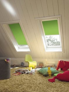 ideas for playroom or child's bedroom blinds