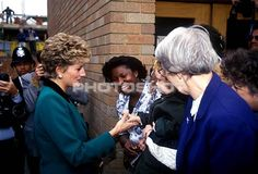 5 Oct 1992 Princess Diana Pictured Launching An Anti-drug Abuse Project In Brixton London.