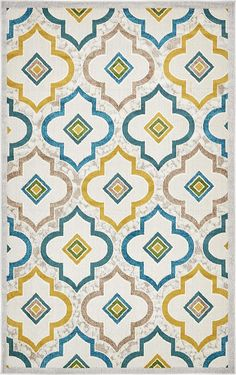 Ivory 152cm x 245cm Transitional Indoor/Outdoor Rug | Area Rugs | AU Rugs