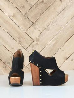 Jam Session Wedge - These are cool looking. I love wedges - they are the only heels I can walk in! Cute Shoes, Me Too Shoes, Wedge Shoes, Shoes Heels, Flats, Pumps, Crazy Shoes, Fashion Shoes, Nail Fashion