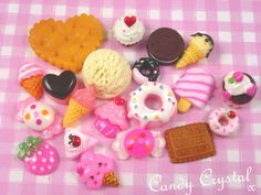 20 x Kawaii Style Cute Food Cabochon Set Crafts Decoden Embellishment UK SELLER! | eBay