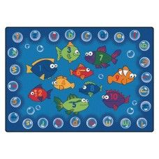 Kids Rugs: Fishing for Literacy - 7'8'' x 10'10'' Rectangle