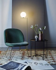T.D.C: Four Beautiful Reading Nooks Living Room Designs, Livingroom Lighting Ideas, Lounge Lighting, Lounge Rug, Green Lounge, Velvet Chairs, Velvet Lounge, Beni Ourain, Modern Living