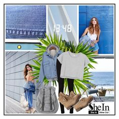 """""""SHein"""" by mainlyd ❤ liked on Polyvore featuring moda, AG Adriano Goldschmied, Monki ve Herschel"""
