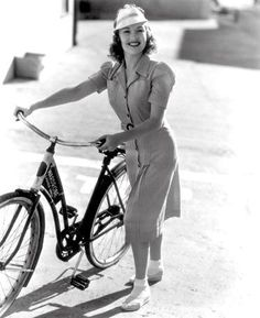 Betty Grable must have gotten those great legs while riding her bike.