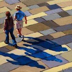 "Daily Paintworks - ""Shadows"" - Original Fine Art for Sale - © Karin Jurick"