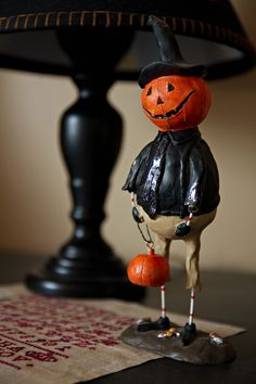 pumpkin man, would be cute to use this method for snowman or santa, or bunny