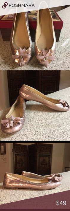 Coach Copper Sequin Ballet Flats Sz 6B These flats are gently used and still in good condition Coach Shoes Flats & Loafers