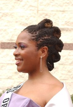My Hairitage Loc Styles - pretty loc updo. Dreadlock Hairstyles, Loose Hairstyles, Black Women Hairstyles, Sisterlocks, Natural Hair Twists, Natural Hair Styles, Au Natural, Loc Updo, Dreads Styles