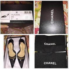 Chanel Black Sling Back Pumps Chanel. Black. Sling back. Worn twice. AMAZING condition! Original box and shoe bags CHANEL Shoes Heels