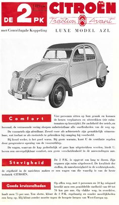 Dutch 2CV brochure 1958