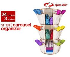Smart Carousel - 24 pockets-3 sleeves inside can hold hats, sweaters, belts, and scarves  Shop Online Here - http://ealpha.com/home-utility/smart-carousel/8381