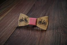 Bicycle wooden bow tie. Bike accessories. by JulesVerneStore