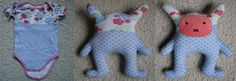 #DIY: my own project. #Upcycle an old baby #romper to a soft rabbit doll.