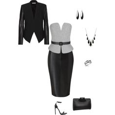 A fashion look from November 2014 featuring Martin Grant blouses, Helmut Lang blazers and Lipsy skirts. Browse and shop related looks.