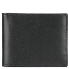 Ettinger billfold wallet ($197) ❤ liked on Polyvore featuring men's fashion, men's bags, men's wallets, black and mens leather wallets