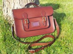 """14"""" satchel, made to my own design, hand cut, completely hand stitched"""