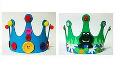 Manualidades con foami o goma eva. With foam for the kids Easy Crafts For Kids, Toddler Crafts, Creative Crafts, Diy For Kids, Simple Crafts, Crown For Kids, Hat Crafts, Dad Day, Crafty Kids