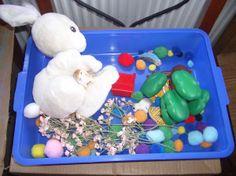 Runaway Bunny sensory bin