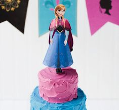 Frozen Inspired Birthday Cake and Printable Banner