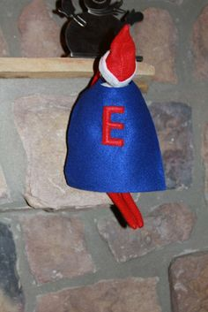 Superhero Cape for small elf christmas figure QUICK SHIPPING