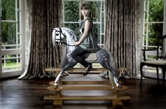 Steel Grey Dapple Rocking Horse by Stevenson Brothers Rocking Horses. Antique Rocking Horse, Rocking Horses, Wooden Horse, Painted Pony, Dressage Horses, New Friendship, Carousel Horses, Horse Art, Old And New