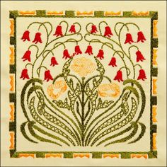 BFC1727 Elegant Art Nouveau Quilt Blocks