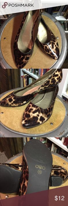 Cato Size 10 leopard slip ons Size 10 slip ons leopard design Cato Shoes Flats & Loafers