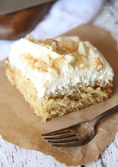 White Chocolate Macadamia Nut Cake