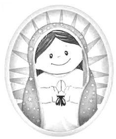 Me gusta la clase de religión: Virgencita de Guadalupe para colorear