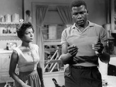 Still from the 1961 film version of Lorraine Hansberry's A Raisin in the Sun, starring Ruby Dee and Sidney Poitier.