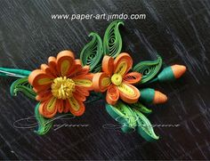 Paper quilling workshop flowers pictures